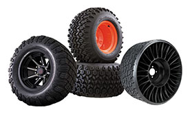 Bad Boy Oem Wheels, No-flat tire, run flat tires, factory replacement, nice rims for bad boy mower